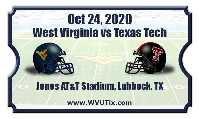 West Virginia Mountaineers Vs Texas Tech Red Raiders Football Tickets 10 24 20